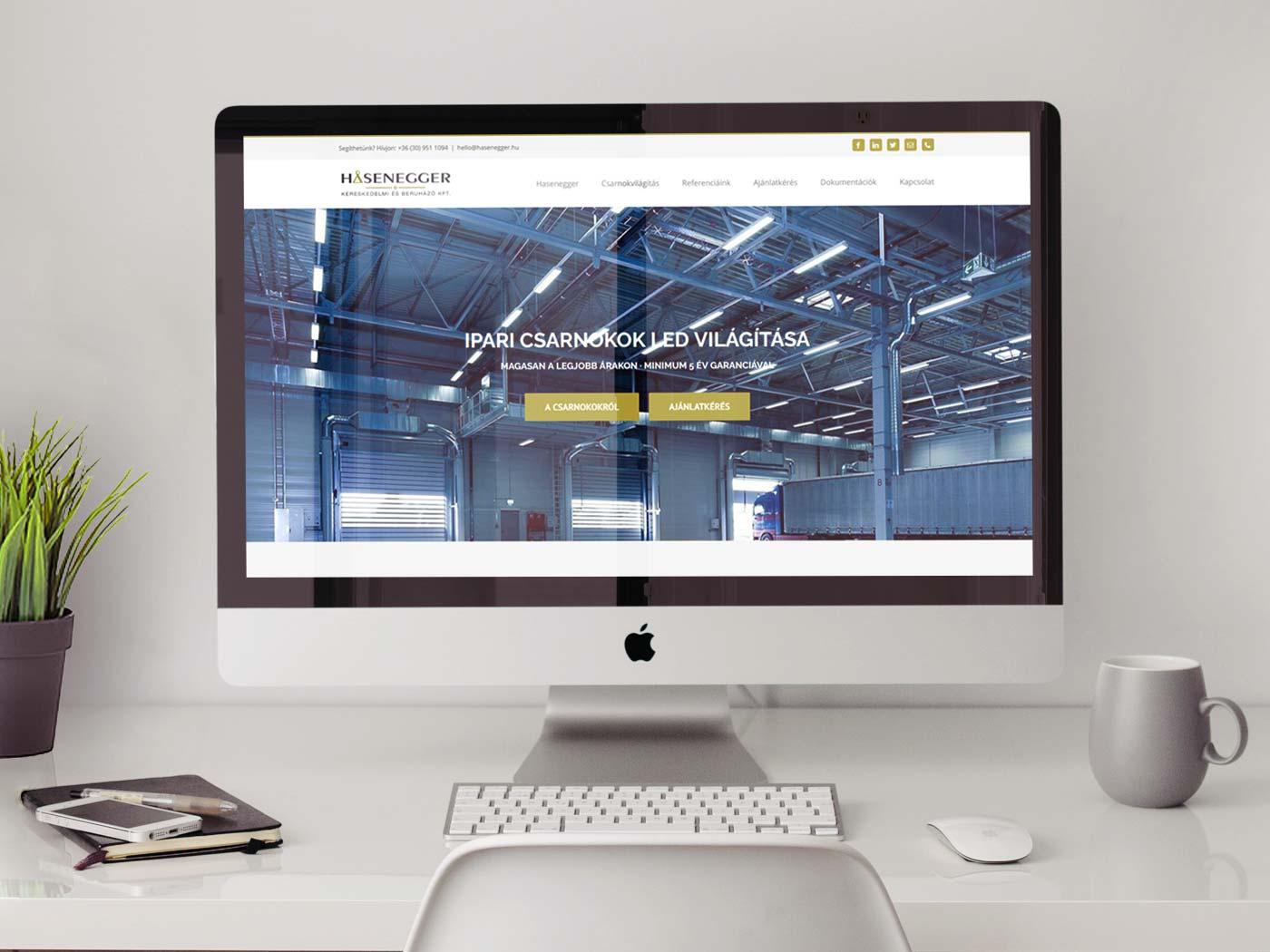 LED Csarnokok WordPress Weboldal