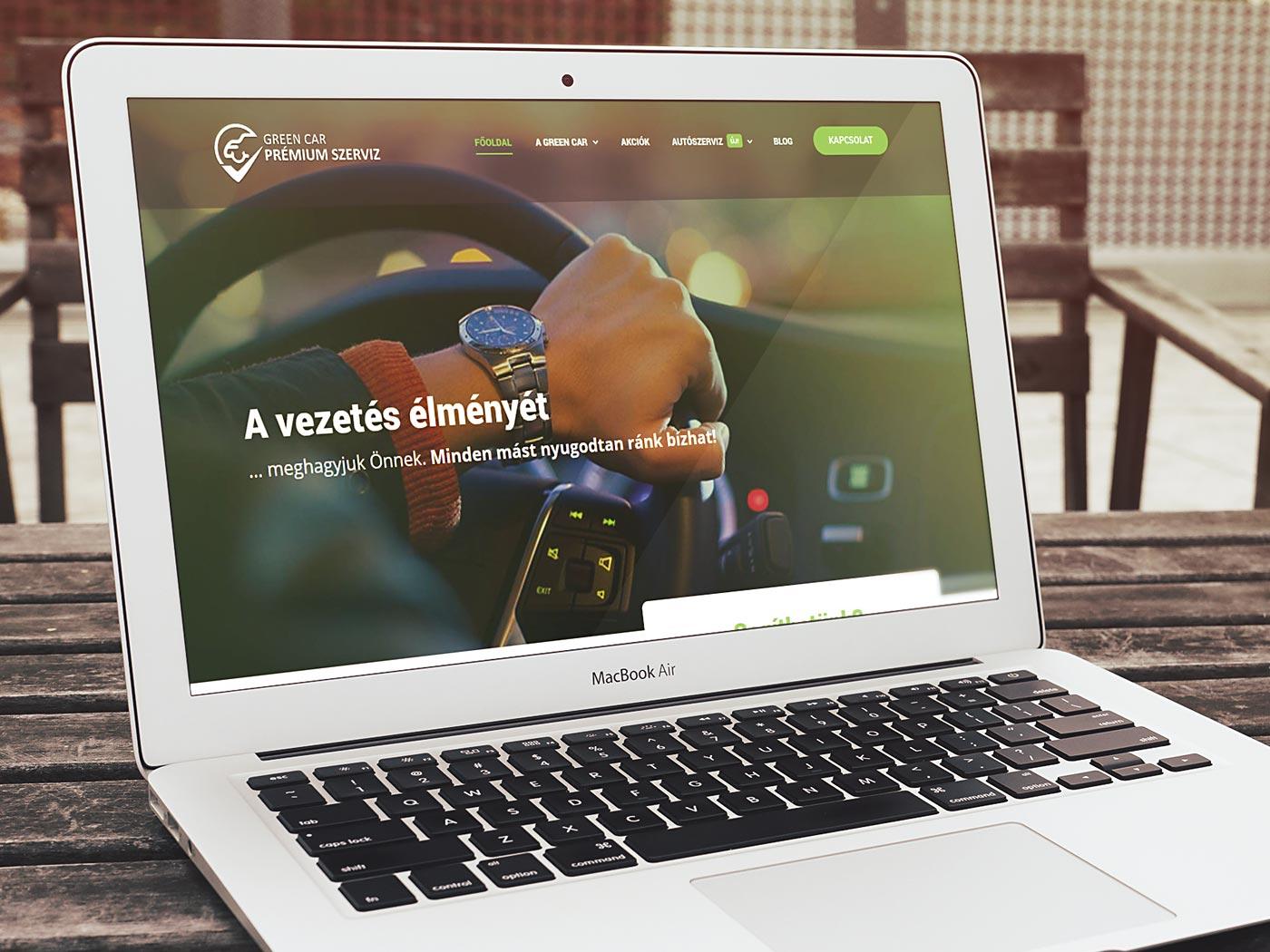 Green Car Szerviz WordPress Weboldal