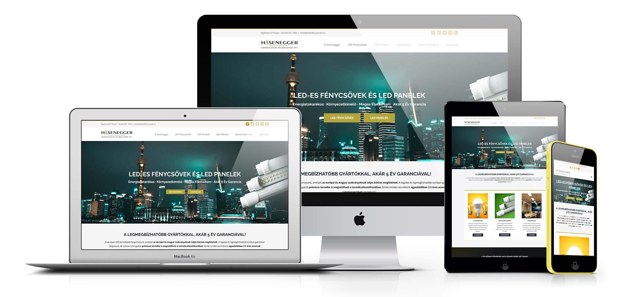 Led Fénycsövek WordPress Weboldal
