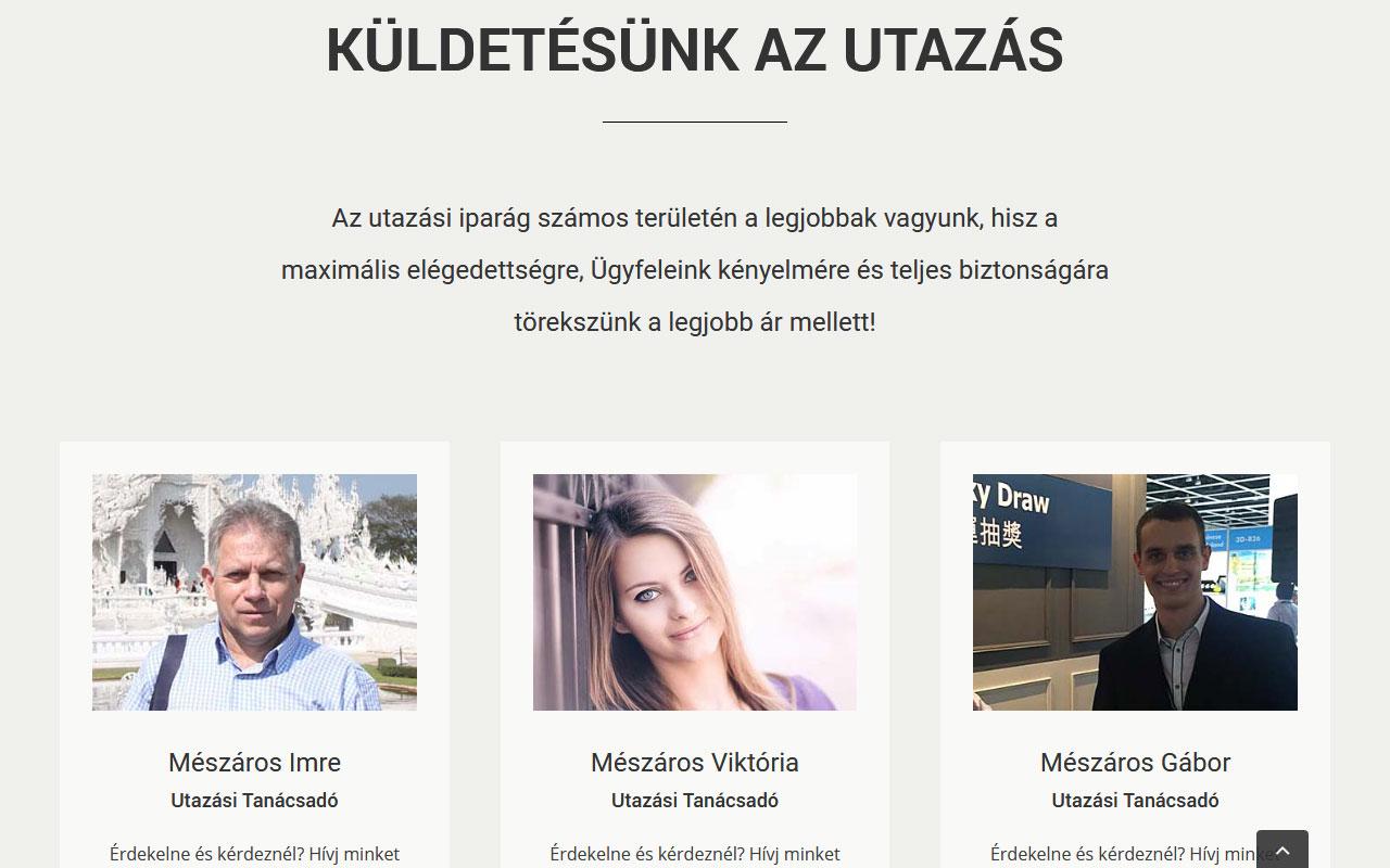 Utazás WordPress Weboldal Tervezése