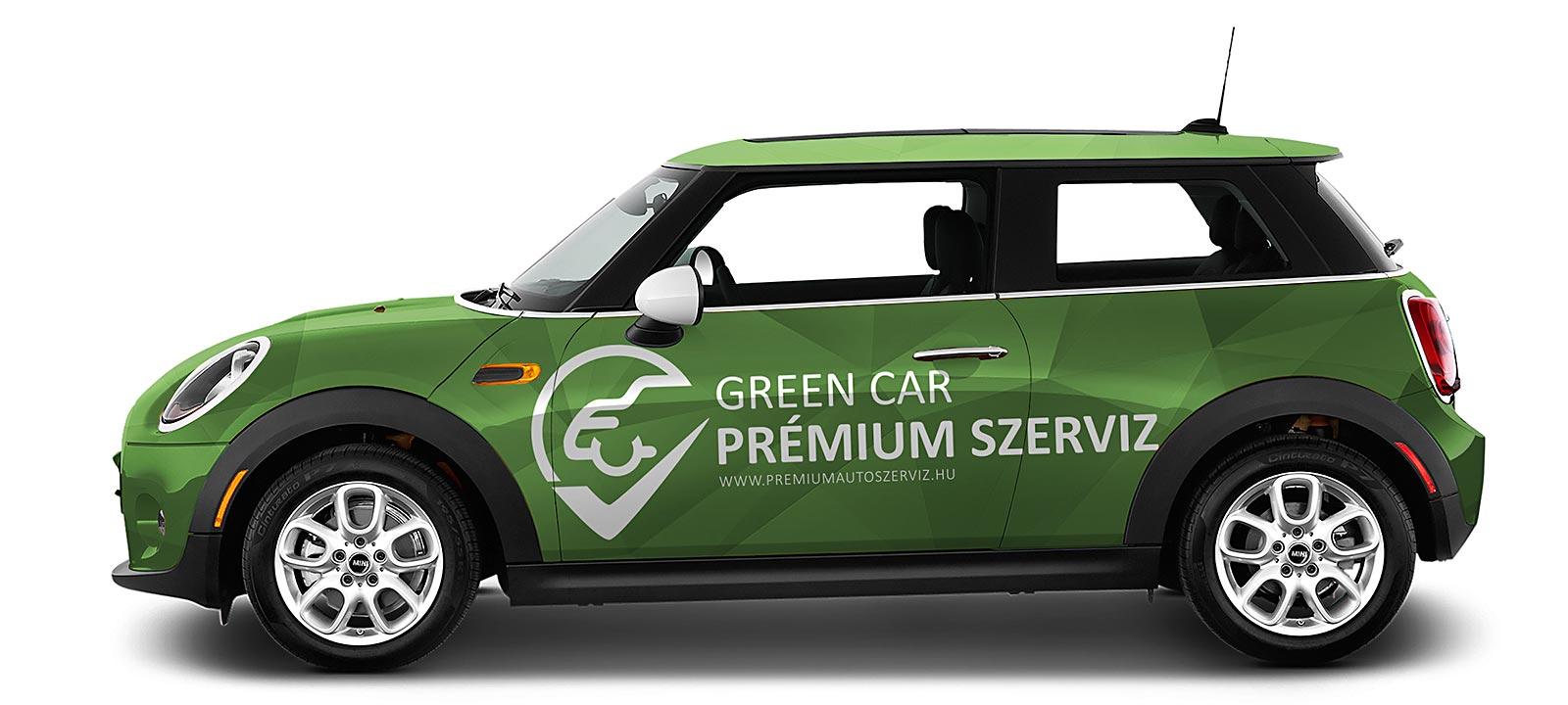 Green Car Prémium Szerviz Arculatterv