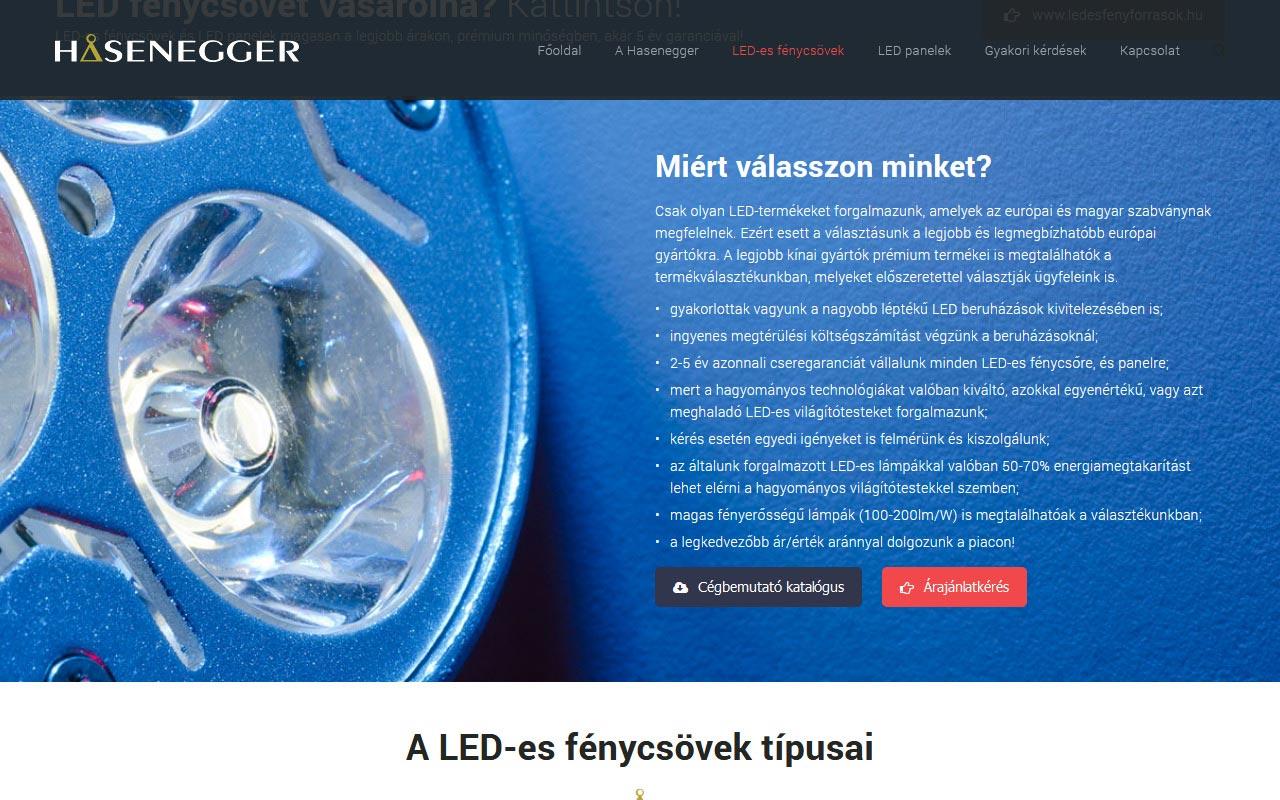 Led-es fénycsövek és LED panelek