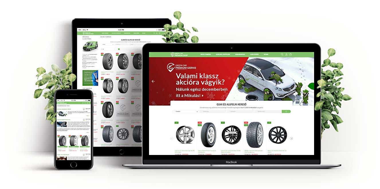 Green Car Shop UNAS Webáruház