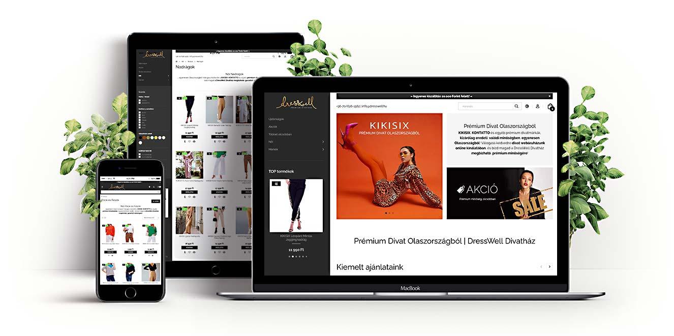 DressWell Online Divatház UNAS Webáruház
